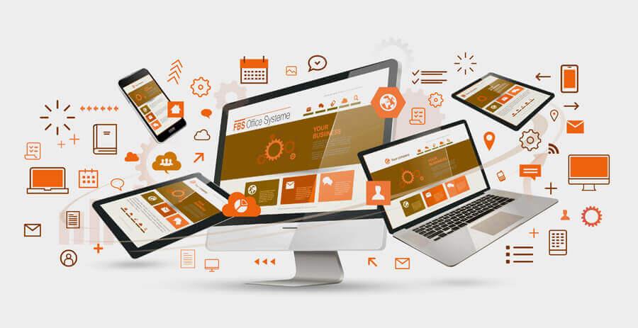 Verschiedene digitale Endgeräte vernetzt und digitalisiert