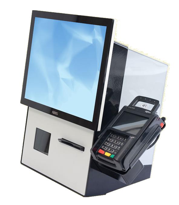 Kassasystem mit digitalem Zahlen und Monitor zur Eingabe