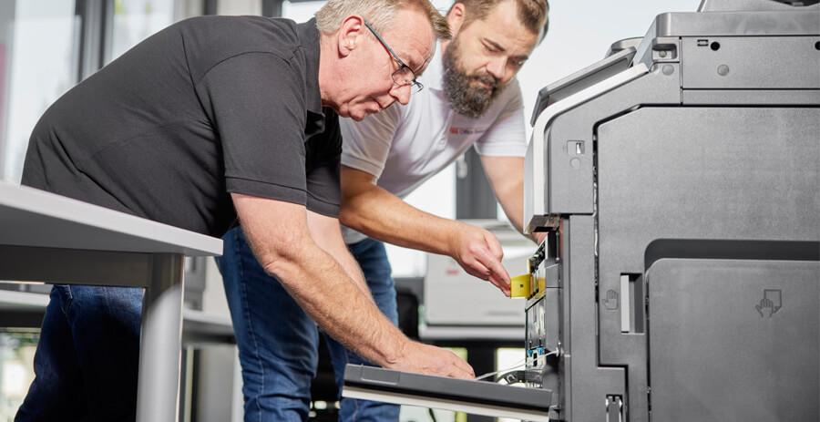 Kopier- und Drucksysteme Testlauf FBS Office Systeme Schorndorf